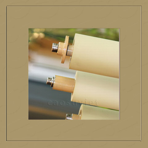 Continuous dampening printing roll